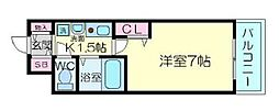 エスリード新梅田[5階]の間取り