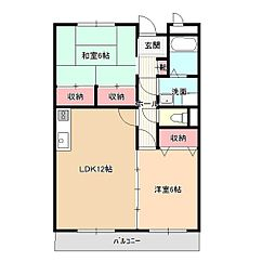 リンピア畑田[1階]の間取り
