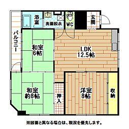 内山第3ビル[4階]の間取り