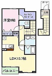 ミゾノカワB[2階]の間取り