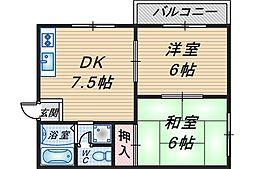 ビラカルム[2階]の間取り
