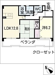 ブルーム井山[2階]の間取り