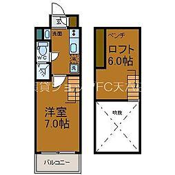 JR大阪環状線 天満駅 徒歩4分の賃貸マンション 12階1LDKの間取り