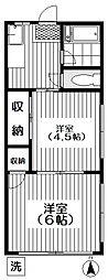 4丁目の白い家[103号室号室]の間取り