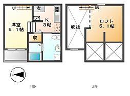 M.Kオリオン名古屋[1階]の間取り