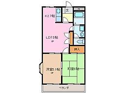 三重県鈴鹿市稲生塩屋3丁目の賃貸アパートの間取り
