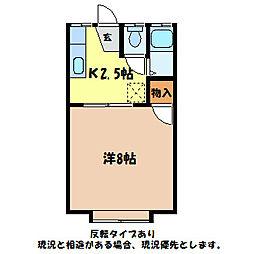 大萱青山ハイツ[1階]の間取り
