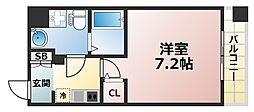 Grandi Rokko Park 2階1Kの間取り