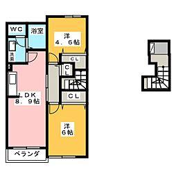 ロジュマンB[2階]の間取り