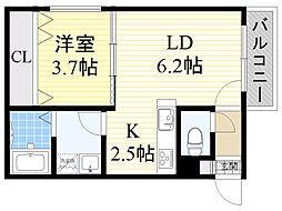 北海道札幌市北区北19条西6丁目の賃貸マンションの間取り