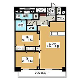 ロイジェント新栄IV[11階]の間取り
