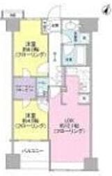 ベリスタ横浜[11階]の間取り