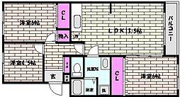 甲南パークハイツ[4階]の間取り
