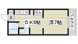 マザーズ北野坂[4階]の間取り