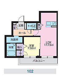 JR奥羽本線 山形駅 幸町下車 徒歩1分の賃貸マンション 1階1LDKの間取り