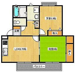 シェーンヴィラK&M1[2階]の間取り