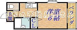 ベルエーキップ[4階]の間取り