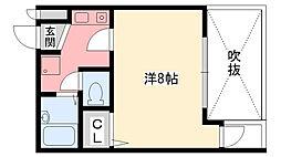 ルミエール甲子園[206号室]の間取り