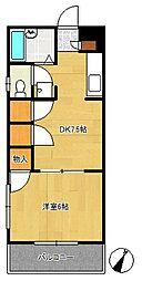 山崎ハイツ[2階]の間取り