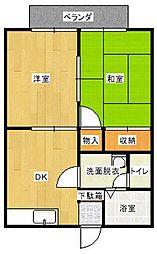 笹原ハイツA[201号室]の間取り