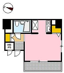 ヴァンハウス吉野町[406号室]の間取り