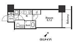 アドバンス西梅田ラシュレ[2階]の間取り