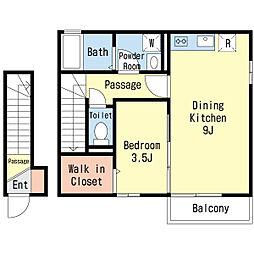 シルフII[2階]の間取り
