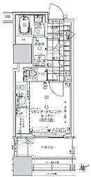 ローレルタワールネ浜松町 3階ワンルームの間取り