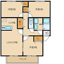 ロックガーデン1[2階]の間取り