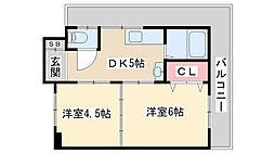 マンション甲陽[401号室]の間取り