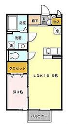 エクセルパークD棟[2階]の間取り