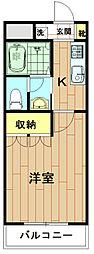 神奈川県川崎市中原区今井上町の賃貸マンションの間取り