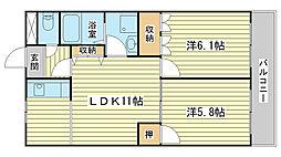兵庫県たつの市新宮町井野原の賃貸アパートの間取り
