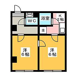 アルファ島田[2階]の間取り