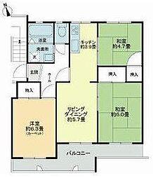 和泉町団地5号棟[5階]の間取り