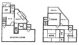[一戸建] 大阪府和泉市上町 の賃貸【/】の間取り