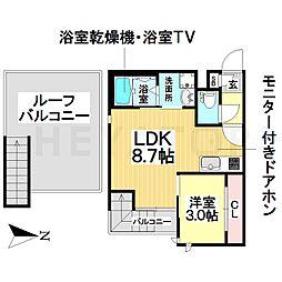 愛知県名古屋市南区呼続2丁目の賃貸アパートの間取り