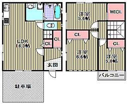 [一戸建] 大阪府高石市東羽衣5丁目 の賃貸【/】の間取り