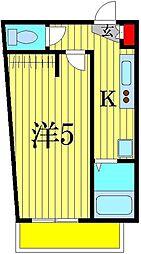 東京都葛飾区堀切4の賃貸アパートの間取り