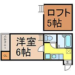 ナディアKN (ナディアケーエヌ)[1階]の間取り