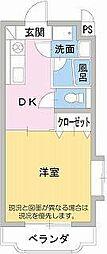 メゾンタケミネ[2階]の間取り