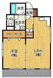 木嶋ビル[4階]の間取り
