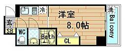 プリエール京町堀[5階]の間取り