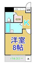 シティ倉敷1号館[4階]の間取り