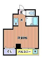 立川弐拾壱番館[3階]の間取り