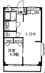 大野マンション[1階]の間取り