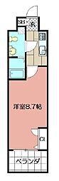 オリエントクロッシングタワー[210号室]の間取り