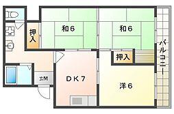 八幸第2マンション[4階]の間取り
