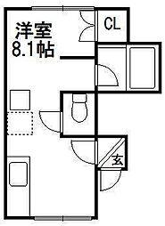 ARS Tsukisamu two[2階]の間取り