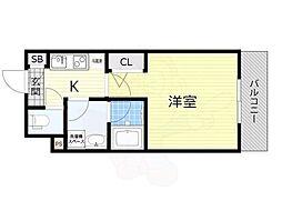 名古屋市営東山線 新栄町駅 徒歩9分の賃貸マンション 11階1Kの間取り